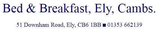 51 Downham Road Bed & Breakfast in Ely